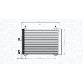 Kondensator, Klimaanlage Netzmaße: 540x361x16 mit OEM-Nummer 6455CP