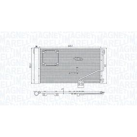 Kondensator, Klimaanlage Netzmaße: 668x382x16 mit OEM-Nummer A2035001354