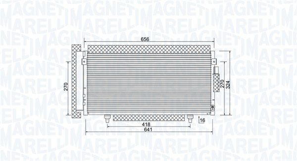 MAGNETI MARELLI  350203998000 Kondensator, Klimaanlage Netzmaße: 641x324x16