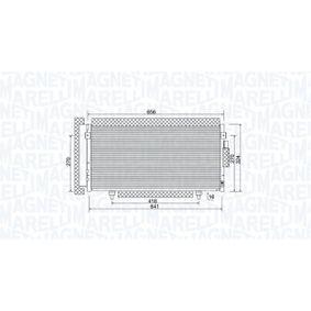 Kondensator, Klimaanlage Netzmaße: 641x324x16 mit OEM-Nummer 73210 SC000