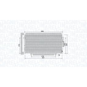 Kondensator, Klimaanlage Netzmaße: 641x324x16 mit OEM-Nummer 73210SC000