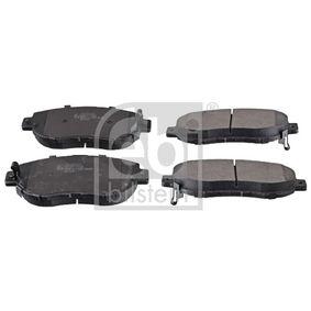 Bremsbelagsatz, Scheibenbremse Breite: 63,8mm, Dicke/Stärke 1: 17mm mit OEM-Nummer 0446522310