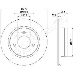 Bremsscheibe Bremsscheibendicke: 19,0mm, Ø: 276mm mit OEM-Nummer 34211165211