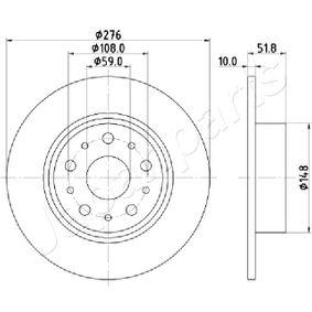 Bremsscheibe Bremsscheibendicke: 10mm, Lochanzahl: 5, Ø: 276mm mit OEM-Nummer 6081 4646