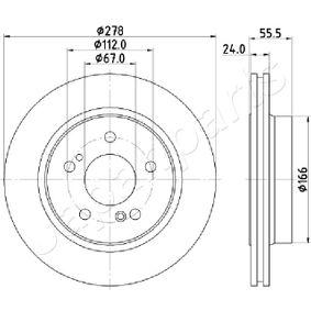 Bremsscheibe Bremsscheibendicke: 22mm, Lochanzahl: 5, Ø: 300mm mit OEM-Nummer 210.423.08.12