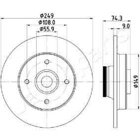 Bremsscheibe Bremsscheibendicke: 9,0mm, Ø: 249mm mit OEM-Nummer 4249,66