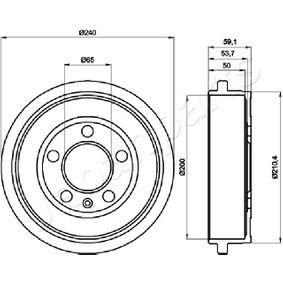 Bremstrommel mit OEM-Nummer 6QE 609 617