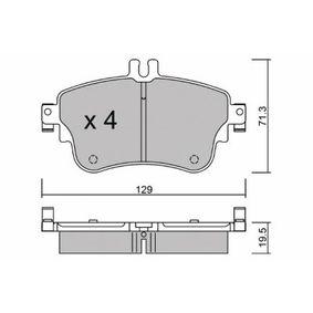 Bremsbelagsatz, Scheibenbremse Breite: 129mm, Höhe: 71,3mm, Dicke/Stärke: 19,5mm mit OEM-Nummer A 008 420 0420