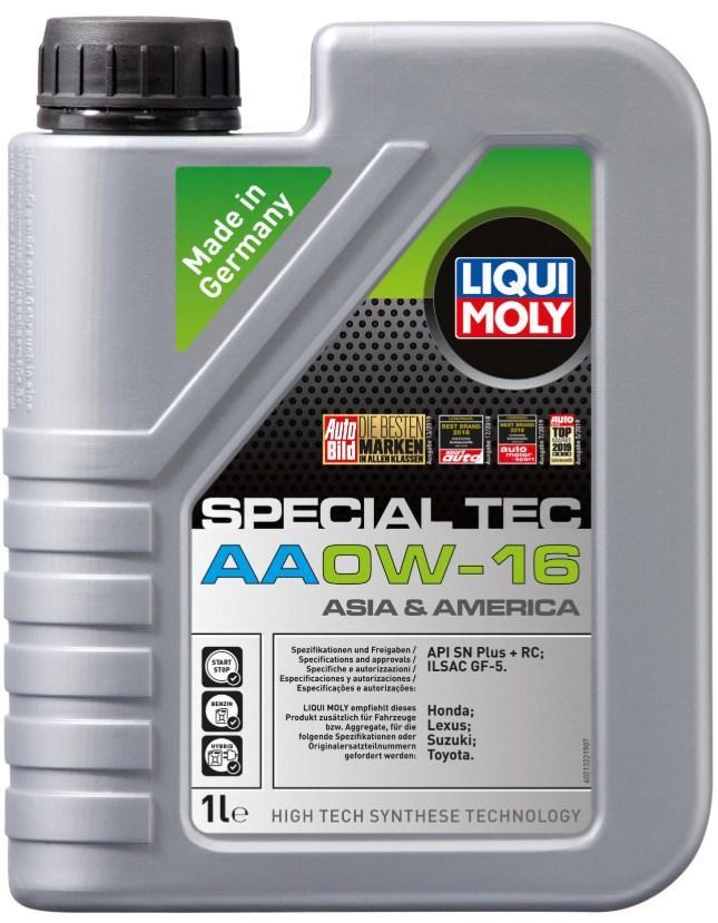 Motoröl 21322 LIQUI MOLY SpecialTecAA0W16 in Original Qualität