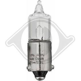 Bulb, tail light H6W, BAX9s, 12V, 6W LID10136