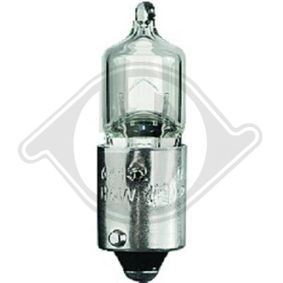 Bulb, tail light H6W, BAX9s, 12V, 6W LID10215