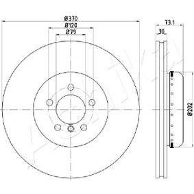 Brake Disc Brake Disc Thickness: 30mm, Num. of holes: 5, Ø: 370mm with OEM Number 34106797606