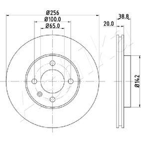 Bremsscheibe Bremsscheibendicke: 20mm, Lochanzahl: 4, Ø: 256mm mit OEM-Nummer 3216 15301 D
