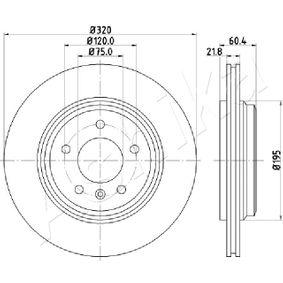 Bremsscheibe Bremsscheibendicke: 22mm, Lochanzahl: 5, Ø: 320mm mit OEM-Nummer 34 201 166 073