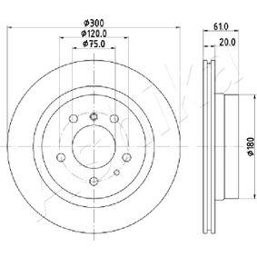 Bremsscheibe Bremsscheibendicke: 20mm, Lochanzahl: 5, Ø: 300mm mit OEM-Nummer 34211159659