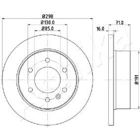 Bremsscheibe Bremsscheibendicke: 16mm, Lochanzahl: 6, Ø: 298mm mit OEM-Nummer 2E0615601A