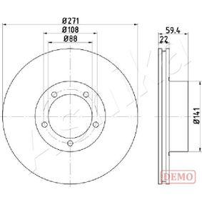 Bremsscheibe Bremsscheibendicke: 10mm, Lochanzahl: 9, Ø: 272mm mit OEM-Nummer 6R0615601