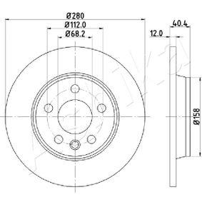 Bremsscheibe Bremsscheibendicke: 12mm, Lochanzahl: 5, Ø: 280mm mit OEM-Nummer 701 615 601 A