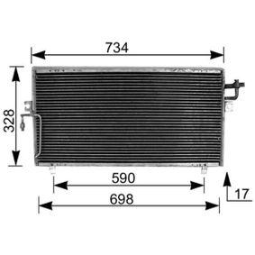 Kondensator, Klimaanlage mit OEM-Nummer 921102F005