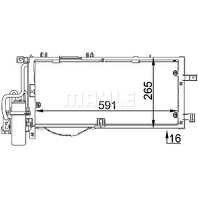 Kondensator, Klimaanlage mit OEM-Nummer 13 126 764