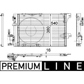 Kondensator, Klimaanlage mit OEM-Nummer 9 118 897