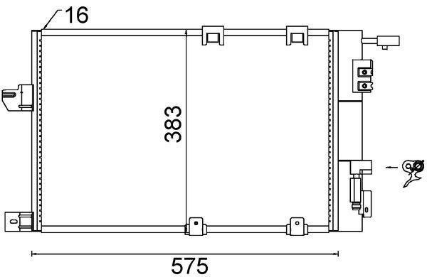 MAHLE ORIGINAL  AC 339 000S Kondensator, Klimaanlage