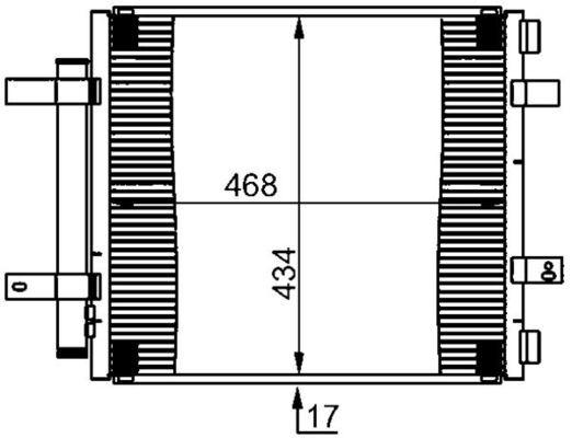 MAHLE ORIGINAL  AC 362 000S Kondensator, Klimaanlage