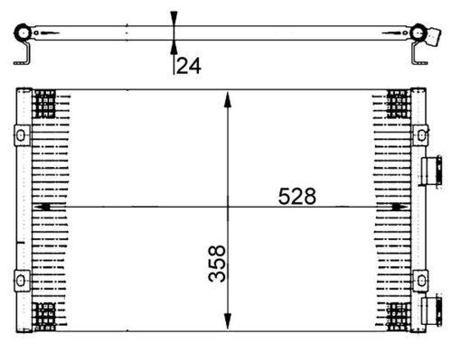 MAHLE ORIGINAL  AC 389 000S Kondensator, Klimaanlage