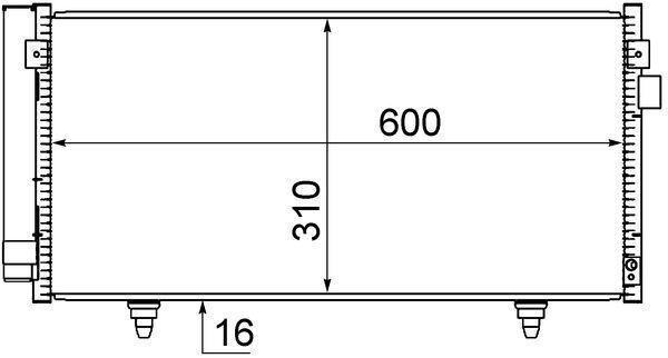 MAHLE ORIGINAL  AC 718 000S Kondensator, Klimaanlage