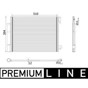 Kondensator, Klimaanlage mit OEM-Nummer 9210 064 54R