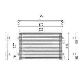 Kondensator, Klimaanlage mit OEM-Nummer 5 017 405AB