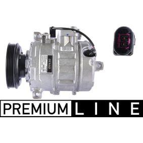 Compresor, aire acondicionado Polea Ø: 114mm con OEM número 8E0 260 805 AH