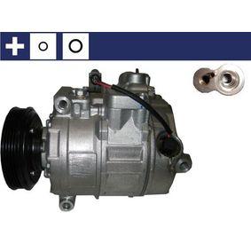 Compresor, aire acondicionado Polea Ø: 110mm con OEM número 4B0 260 805 G