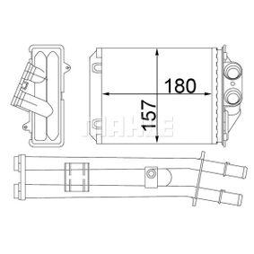 Heat Exchanger, interior heating AH 213 000S PANDA (169) 1.2 MY 2010
