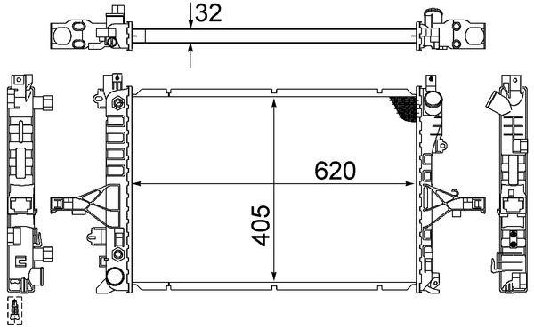 Motorkühler MAHLE ORIGINAL 70823916 4057635097802