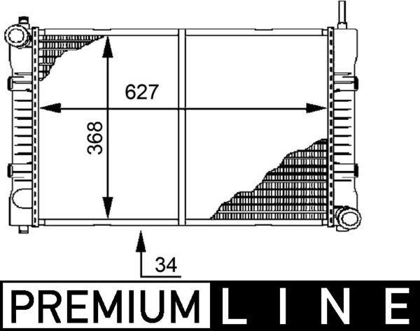 Syyläri CR 676 000P MAHLE ORIGINAL 8MK376721291 alkuperäisen laatuiset
