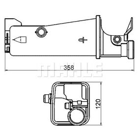 Expansion Tank, coolant with OEM Number 17137514401