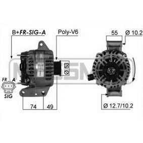 Generator 210241A MONDEO 3 Kombi (BWY) 2.0 TDCi Bj 2003