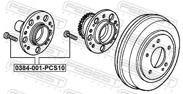 Wheel Stud FEBEST 0384-001-PCS10 rating