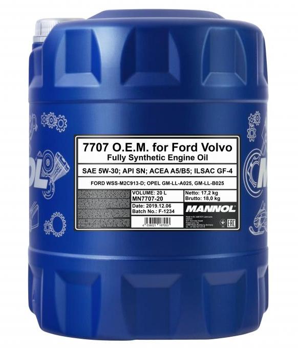 MANNOL O.E.M., 7707 MN7707-20 Motoröl