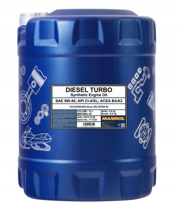 MANNOL DIESEL TURBO MN7904-10 Motoröl