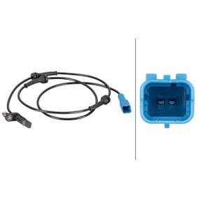 Sensor, Raddrehzahl Pol-Anzahl: 2-polig mit OEM-Nummer 4545-K5