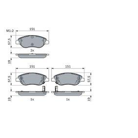 Bremsbelagsatz, Scheibenbremse mit OEM-Nummer 7 736 855 3