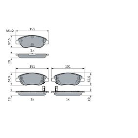 Bremsbelagsatz, Scheibenbremse mit OEM-Nummer 77368553