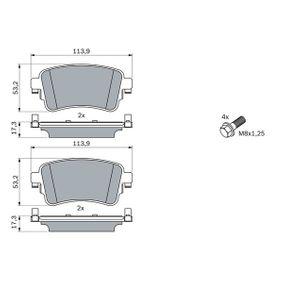 Комплект спирачно феродо, дискови спирачки с ОЕМ-номер SU001A6136