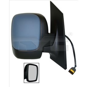 TYC Side view mirror Right, Convex, Electronically foldable, for electric mirror adjustment, Heated, with thermo sensor, Primed