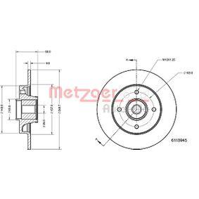 Bremsscheibe Bremsscheibendicke: 9mm, Lochanzahl: 4, Ø: 248,7mm mit OEM-Nummer 4249.34