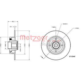 Bremsscheibe Bremsscheibendicke: 8mm, Lochanzahl: 4, Ø: 239,9mm mit OEM-Nummer 8200038305