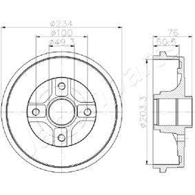 Renault Twingo 2 1.2 Turbo (CN0C, CN0F) Bremstrommel JAPANPARTS TA-0710 (1.2 Turbo Benzin 2013 D4F 782)