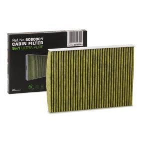 Filter, Innenraumluft Länge: 280mm, Breite: 205mm, Höhe: 25mm mit OEM-Nummer 8L0091800